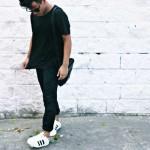 Phối đồ với giày thể thao adidas trắng sao cho chuẩn