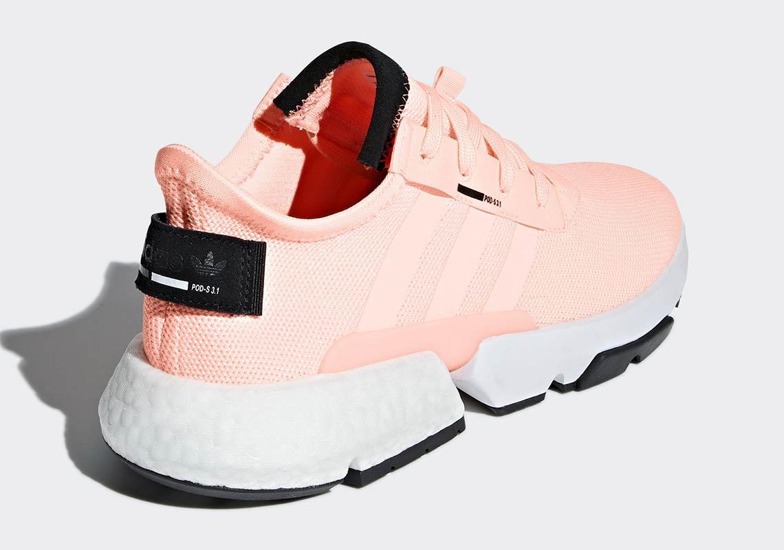 Giày thể thao adidas POD s3.1 phát hành phiên bản cam san hô tuyệt đẹp