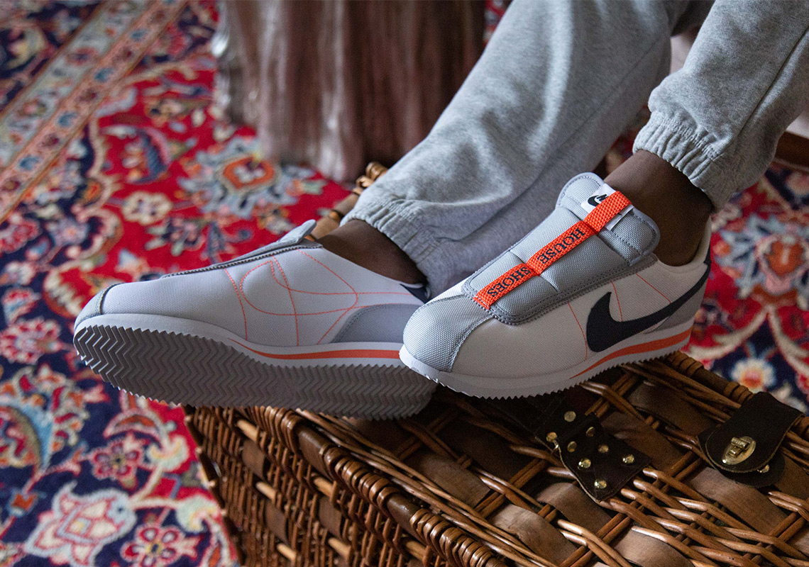 """Một chút sắc cam cuốn hút trên đôi giày Nike Cortez Slip """"House Shoes"""""""